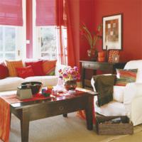 rode woonkamer